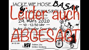 Absage Basar©Holtorfer SV