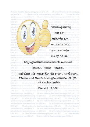 Fasching 2020©Holtorfer Sportvereinigung