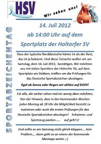 Sportabzeichentag 2012