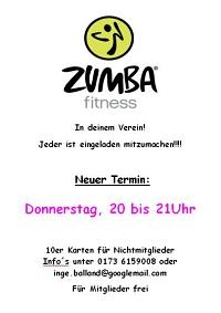 Zumba Kurs neu